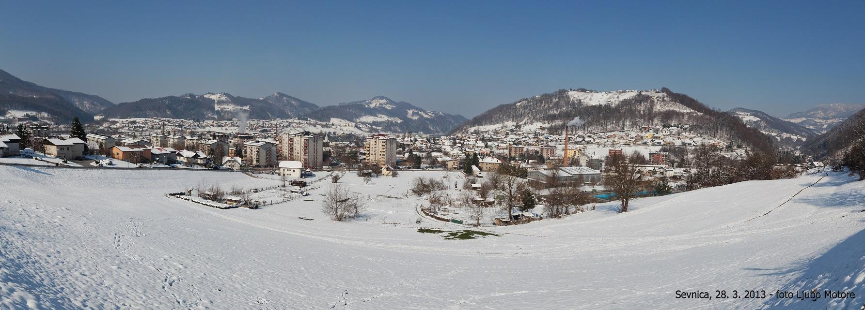 Sevnica, veliki četrtek, sneg, Kruhek, Lisca